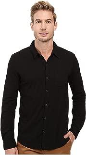 Mod-o-doc Summerland Knit Long Sleeve Jersey Button Front Shirt Black Men's Long Sleeve Button Up