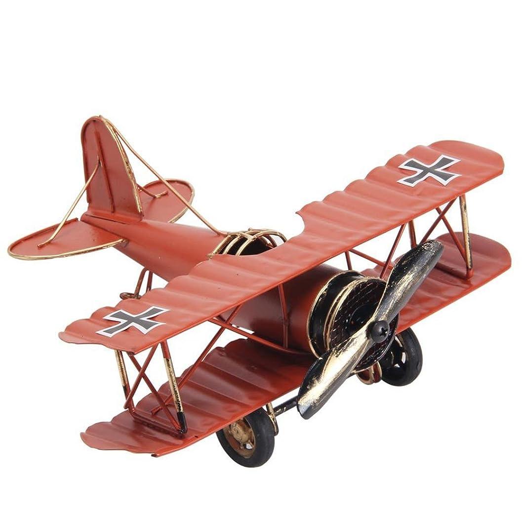 シガレットジョージハンブリー遠征URAQT 復古飛行機 モデル ドイツ 双翼飛行機 レトロ飛行機 モデル 飛行機模型 装飾 飾り 置物 インテリア おもちゃ 雑貨 復古  お洒落(赤)
