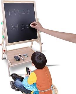 Le Support à Dessin En Bois Double Face Pour Enfants, Comprenant 2 Tableaux Noirs, Convient Aux Enfants De Plus De 3 Ans, ...