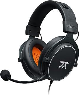 Fnatic REACT - Cuffie da gioco per Esports con driver da 53mm, struttura in metallo, suono stereo preciso, microfono staccabile, Jack da 3.5mm [PC, PS4, PS5, XBOX ONE, XBOX SERIES X] [playstation_4]