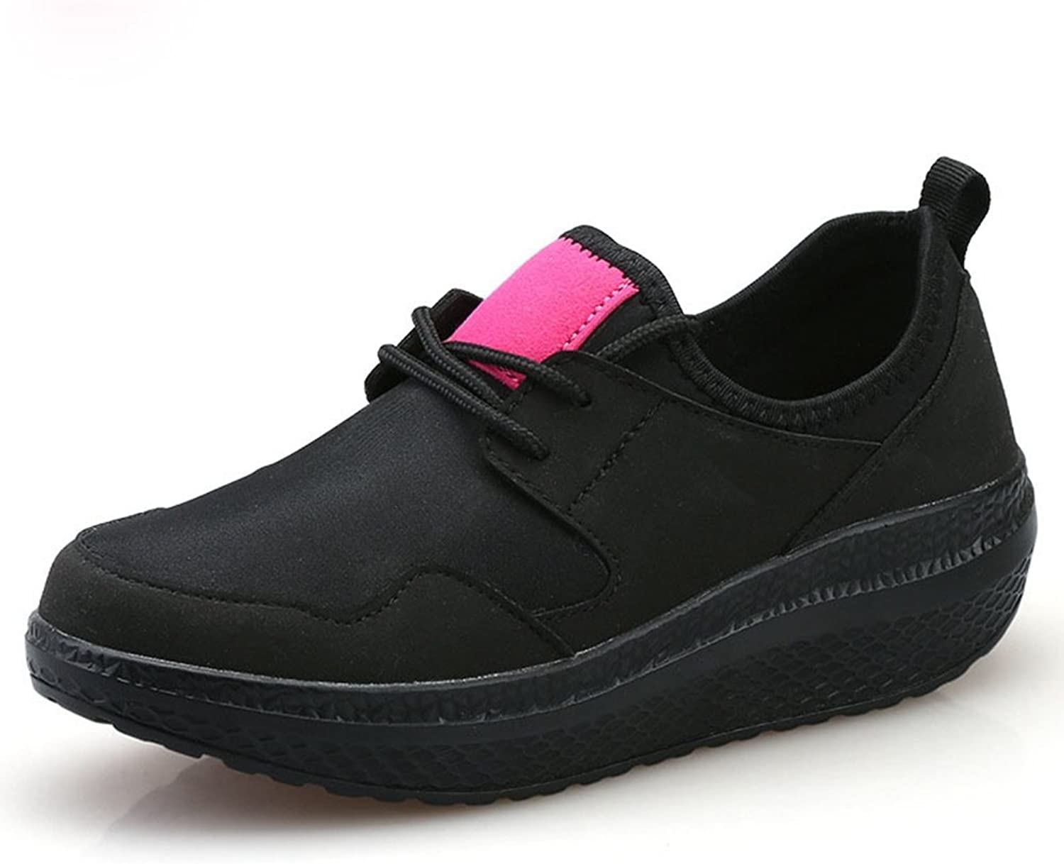 CYBLING Wedge Athletic Sneakers for Women Breathable Low Top Outdoor Walking Running shoes
