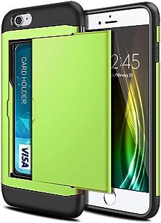 FKnbM New Phone Case for iPhone SE 2 2020, Slide Business Armor Wallet Card Slot Cover for iPhone SE 2020 Case (Color : Gr...