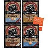 INCLUDES - 4 boxes (about 48 muffins) of KODIAK CAKES Muffin Mix - 1 box (about 12 muffins) of each flavor - Blueberry, Double Dark Chocolate, Chocolate Chip, and Blueberry Lemon! As an added gift, we have included our most requested booklet- Sunrise...