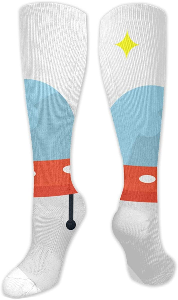 Cute Ufo Knee High Socks Leg Warmer Dresses Long Boot Stockings For Womens Cosplay Daily Wear