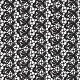 Fabulous Fabrics Spitze schwarz, Blume, 123cm breit –