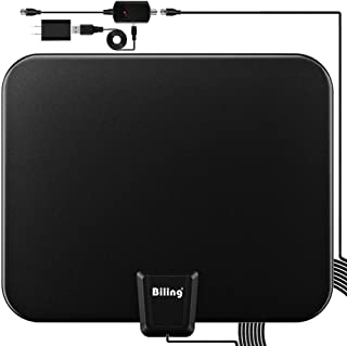 Digital TV Antenna, 80-120 Miles Range Digital Antenna for HDTV, VHF UHF Freeview Channels Antenna with Amplifier Signal Booster, 16.5 Ft Longer Coaxial Cable