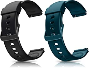 Letsfit ID205L ID205S Smart Watch Bands, Adjustable Smartwatch Replacement Straps for ID205L and ID205S Sport Watch, Replacement Accessory Bandst with 2 Pack, Black+Green