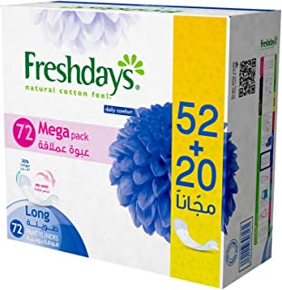 Freshdays Daily liners Long 72 pads