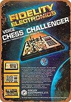 2個 20 * 30CMメタルサイン-1979フィデリティボイスチェスチャレンジャー メタルプレート レトロ アメリカン ブリキ 看板