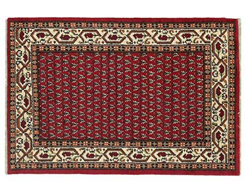 Indo Sarough Mir 120x180 cm Handgeknüpft Rot Geometrisch Teppich 120x180