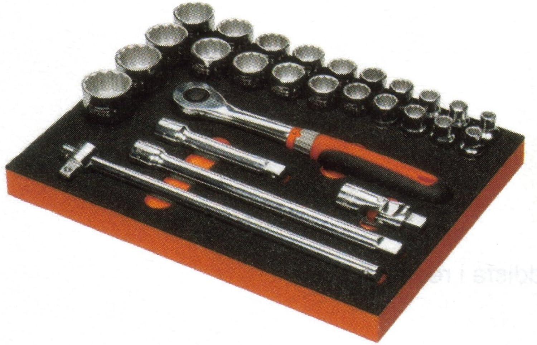 Bahco STECKSCHLÜSSELSATZ 1 2 , 27-TLG, MODUL T12, 348X261MM B00E2OMJ8Q | Qualität Produkt