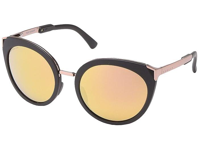 Oakley 56 mm Top Knot (Velvet Black) Fashion Sunglasses