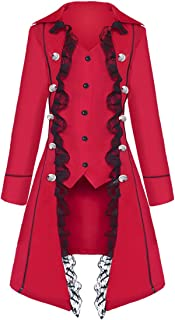 Women's Gothic Steampunk Corset Victorian Tailcoat Jacket Halloween Costume Coat