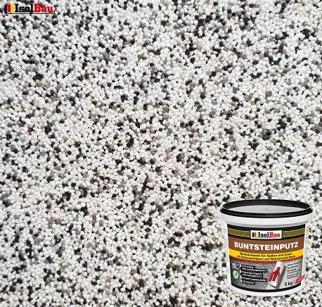 Buntsteinputz Mosaikputz BP10 (weiss, grau, schwarz) 5kg Absolute ProfiQualität