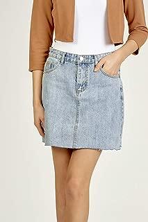 Valleygirl RAW Cut Denim Skirt (326157)