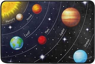 Outer Space Planets Galaxy Doormat for Bedroom Living Room Mat Personalized Floor Rug Indoor Outdoor Home Decor Nonslip Do...