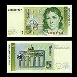 *** 2 Stück 5 Deutsche Mark Geldscheine 1991 Alte Währung - Reproduktion *** -