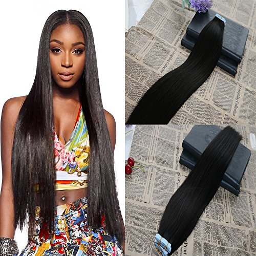 18 inch 50g/20pcs Skin Weft Tape in Hair Extensions 100% Remy Human Hair Seamless Tape In Human Hair Extensions Best Quality PU Hair Tape in