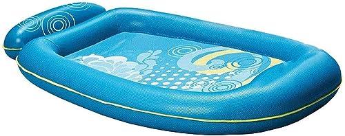 Inflatable pool Lit Flottant sur l'eau, Ligne Flottante Ligne Air Lit Eau Adulte Mer Gonflable Lit Flottant Anneau Flottant Tapis