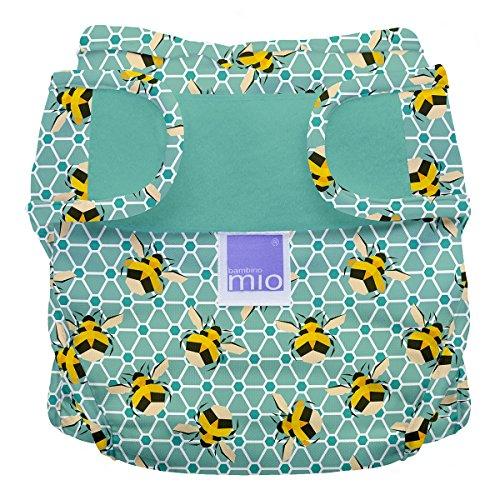 Bambino Mio, mioduo cobertor de pañal reutilizable reutilizable, abejas, talla 1 (<9 kg)