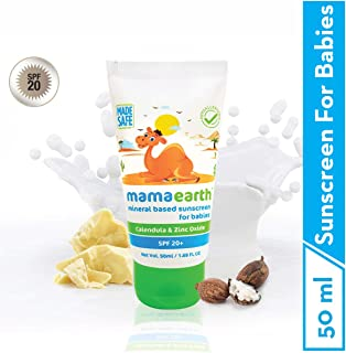 Mamaearth Mineral Based Sunscreen for Babies, White, 50ml
