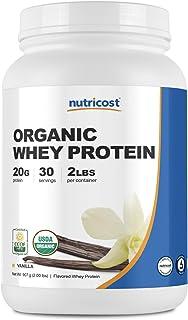 Nutricost Organic Whey Protein Powder (Vanilla) 2 LB - Non-GMO