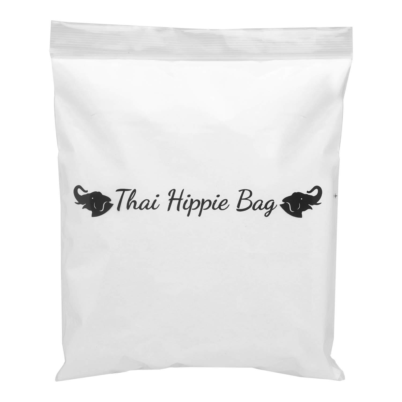 Thai Hippie Bag Hippie Elephant Sling Cross Body Bag Purse Zip Pocket Handmade ColorBlack