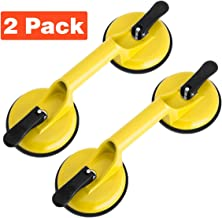 Glass Suction Cup Heavy Duty Aluminum Vacuum Plate Double Handle Professional Holder Hooks Mover Puller Lifter Gripper for Moving Large Glasses Mirror Granite Repair laminate floor gap fixer (2 Pack)