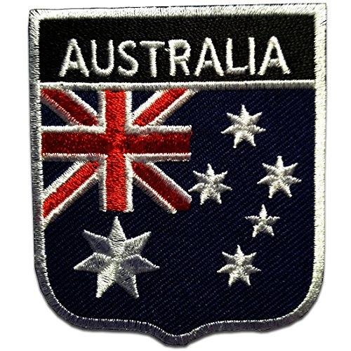 Australien Flagge Fahne - Aufnäher, Bügelbild, Aufbügler, Applikationen, Patches, Flicken, zum aufbügeln, Größe: 6,5 x 7,5 cm