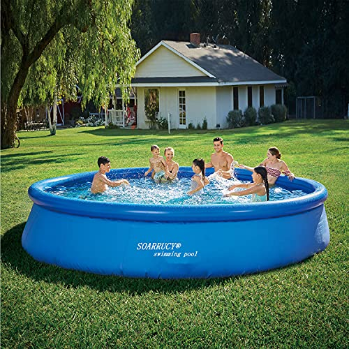 Inflatable Above Ground Pool for Adults - 15FT x 36in Swimming Pool,Swimming Pools Above Ground, Above Ground Pools for Adults,Big Outdoor Pool for Family,Backyard,Garden,Toddler Pool Toys (No Pump)