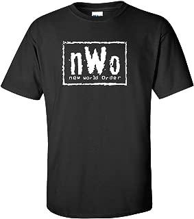 New World Order-T-Shirt-NWO-WCW logo-Professional-Wrestling-Size-S-3XL