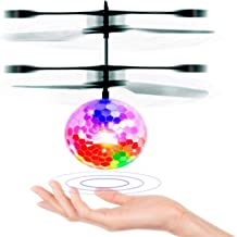 Flying Ball, YYZP Children Flying Toys, RC infrared Induction Helicopter Ball Built-in Shinning Color Changing LED Lighting for Kids, Teenagers
