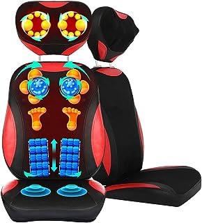 Masajeador de cuello y espalda Shiatsu Comfier u2013 Masajeador de espalda completo amasado 5D, almohadilla de silla de masaje para hombros, cuello y espalda, caderas, alivio del dolor de cuerpo com