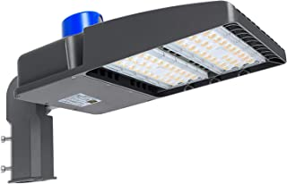 150W LED Parking Lot Light with Photocell 19000LM LED Shoebox Pole Lights Fixture 400W HID/HPS Replacement 5700K IP65 AC 100-277V DLC UL Listed Outdoor Area Street