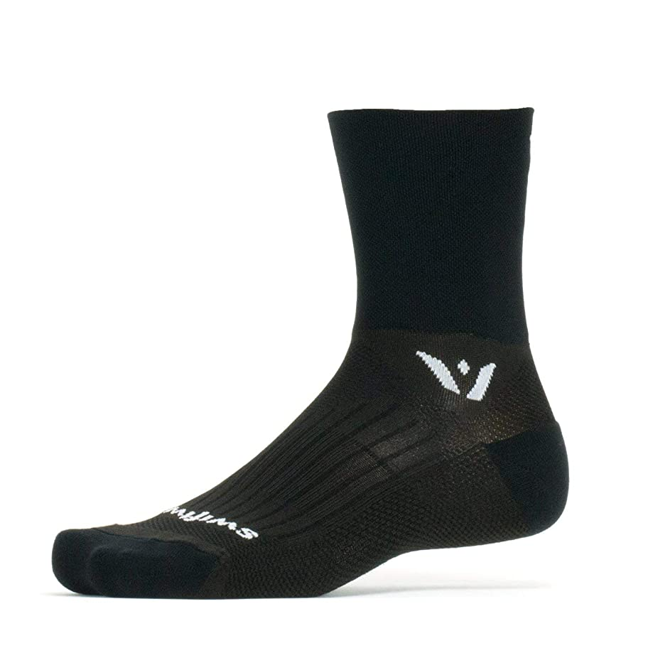 Swiftwick- Performance Four | Socks for Trail Running & Cycling | Fast Drying, Lightweight, Quarter Crew