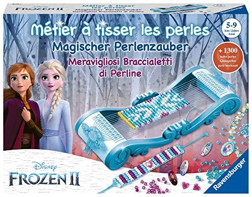 Ravensburger- Métier à tisser les perles - Loisir Créatif - création de bijoux - Reine des Neiges 2- 4005556180752 - version française