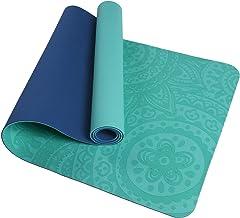 TOM SHOO Gedrukte Yogamat TPE Yoga Mat Antislip Geweven Oppervlakken Eco-vriendelijke PaddingOm pijnlijke knieën te voorko...