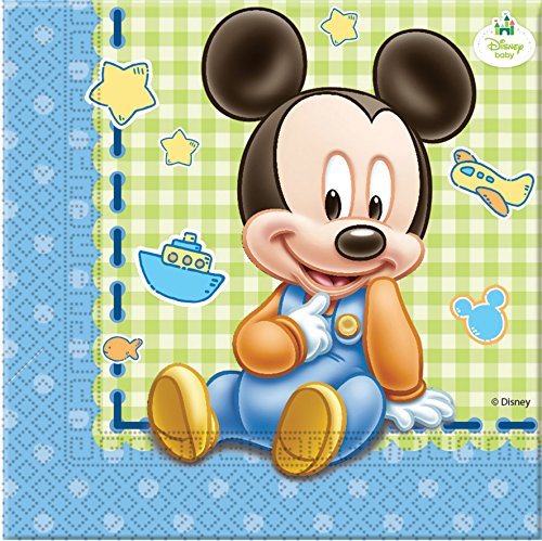 Disney Bébé Mickey Mouse, Lot de 20 Serviettes en Papier
