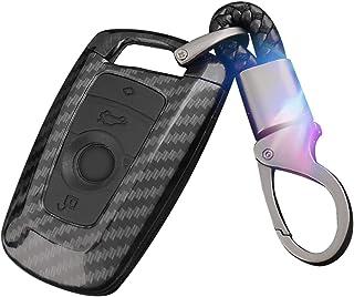 WinPower 4 Botón Llave del Mando a Distancia del Coche Funda Llavero de Coche para 1/3/4/5/6/7 Series,X3 (F25),X4 (F26),M3/M4/M5/M6/GT3/GT5