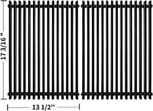 SHINESTAR Grill Grates Replacement for Nexgrill 720 0697, Charbroil Commercial Series 463449914 463241113 Parts, Grill Master 720-0697, BHG BG1755B, 17 x 27 inch Porcelain-Coated Steel Cooking Grates