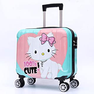 YCYHMYF Cartoon Pattern Children's Trolley case for School ABS Material Ultra-Light Travel Suitcase