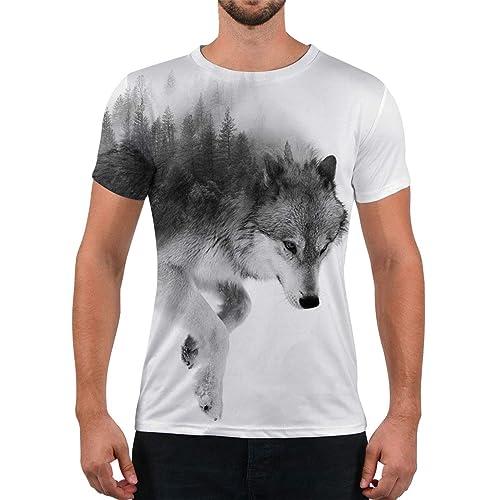 Wolf Pup Mens Sports Short Sleeve T Shirt