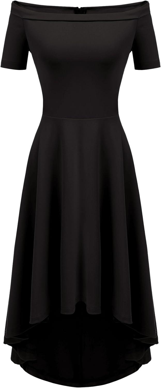 Zeagoo Women's Off Shoulder High Low Swing Maxi Party Dresses