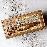 Coffret cadeau incroyable d'outils de chocolat réalistes - clé, pinces, petit écrou, boulon et rondelle boîte-cadeau de chocolat végétalien