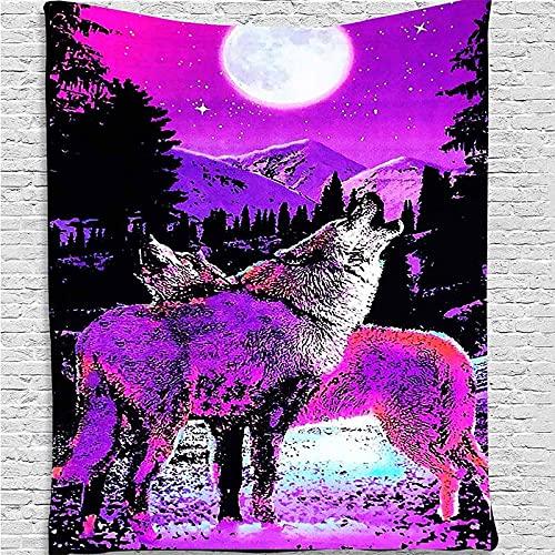 Tapiz de calavera psicodélico para colgar en la pared, tapiz de pared de colores, manta de pared, manta de tapiz de animales de fantasía A4 180x200cm