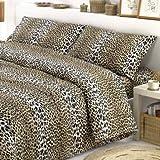 Confezioni Giuliana COPRILETTO 2 Due piazze Matrimoniale Cotone MACULATO Leopardato - Leopardo