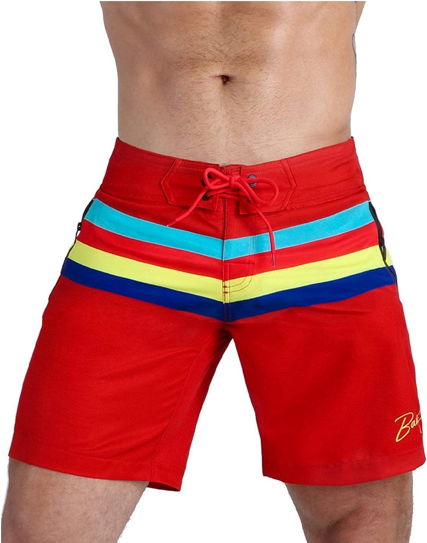 Bang Men's Swimwear - Flex Boardshorts - Ajdustable Fit Long Above-Knee Cut Stretch Quick Dry Surf