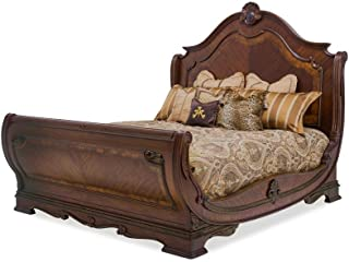Aico Amini Bella Veneto Eastern King Sleigh Bed in Cognac
