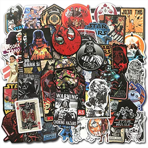 Star Wars-Aufkleber für Skateboard, Gepäck, Motorrad, Laptop, Cartoon-Aufkleber-Set, 50 Stück