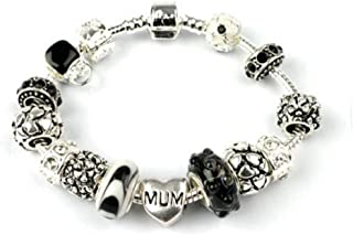 Liberty Charms Mum 'Loves Dream' Silver Plated Charm/Bead Bracelet